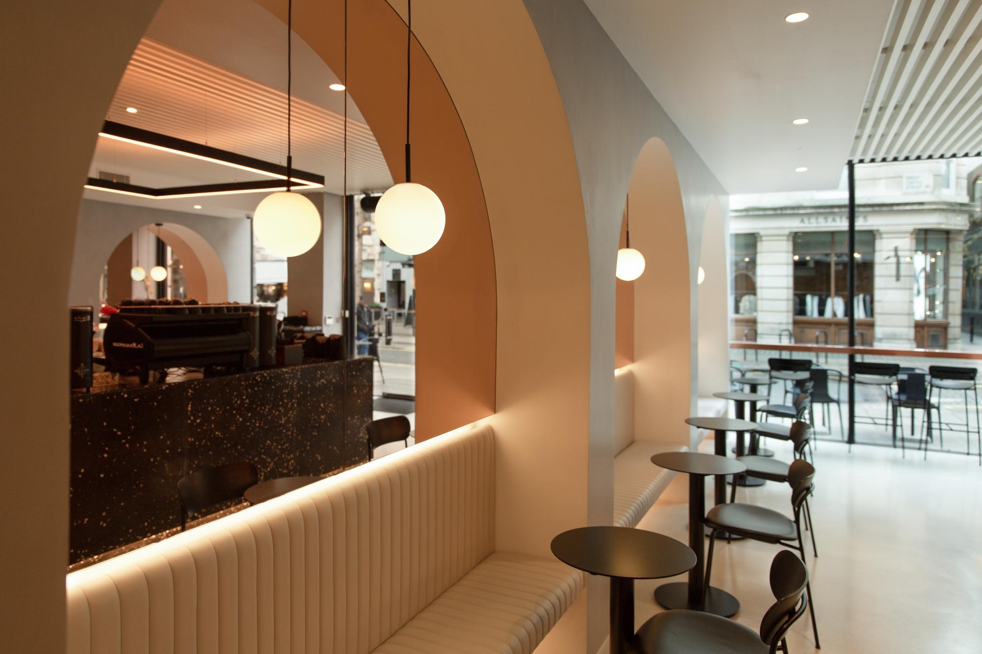 Lighting design for JOLT Coffee